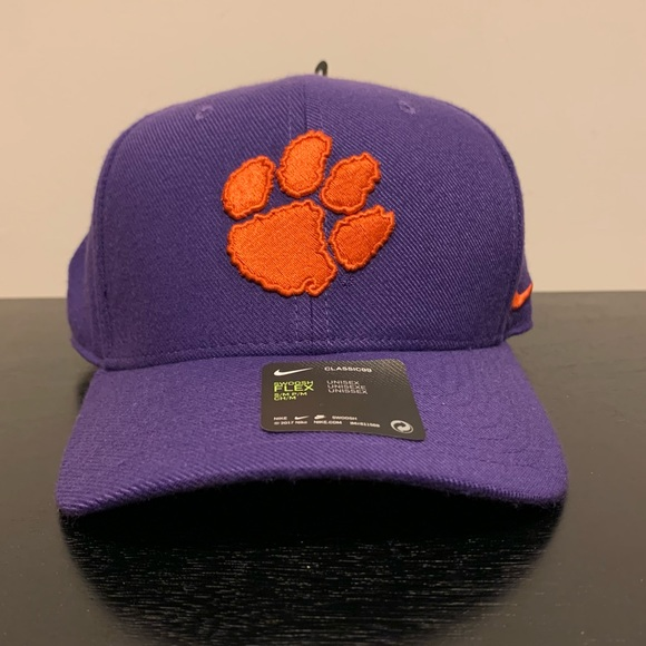 NWT! Nike Clemson Tigers stretch-fit hat